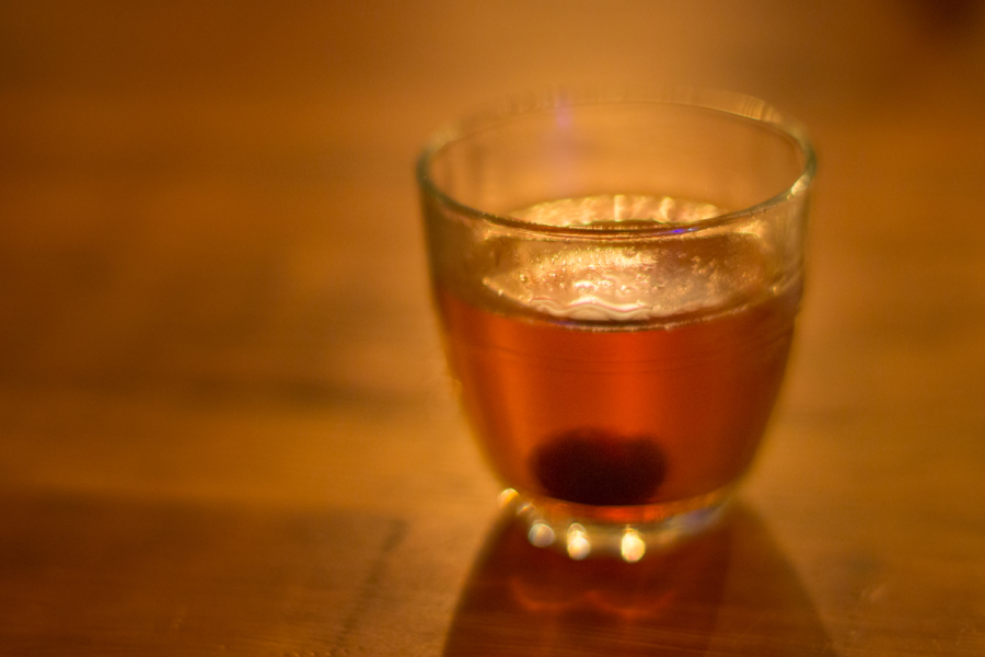 A Manhattan cocktail at The Lede.