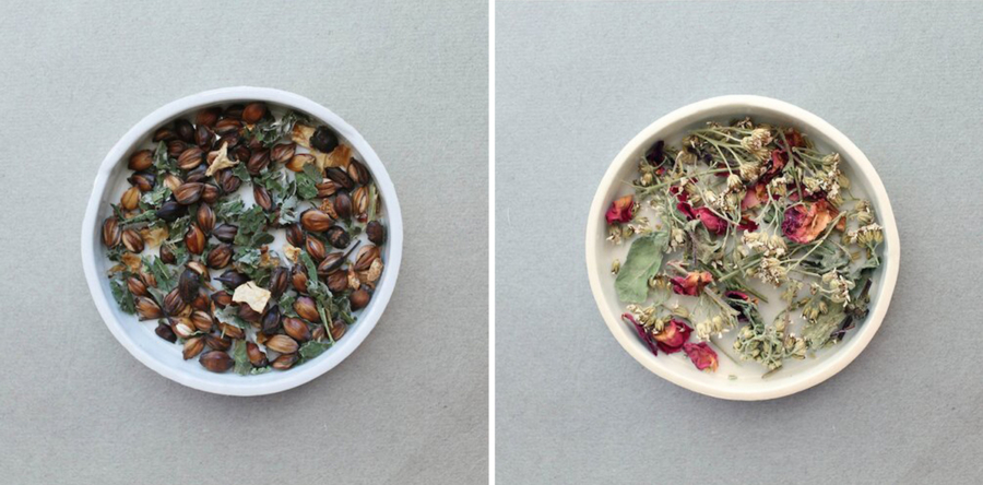 Forest and Paz teas from Leaves and Flowers.