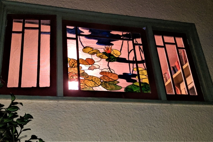 Water lilies and stained glass.
