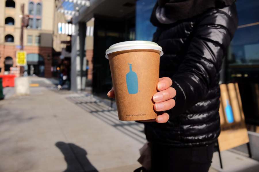 Blue Bottle has started charging 25 cents for disposable cups.