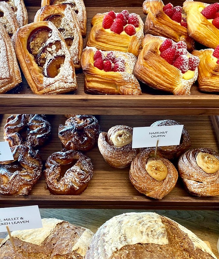 Pastries and breads at the upcoming East Bay Provisions, a café and wine bar at the Claremont hotel.