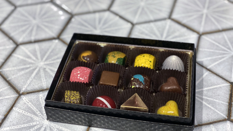 A box of Formosa Chocolates.