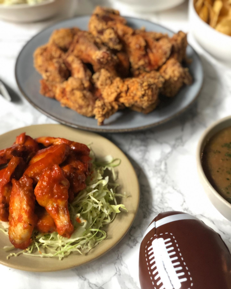 Hopscotch will be offering its fried chicken and miso-glazed chicken wings for Super Bowl.