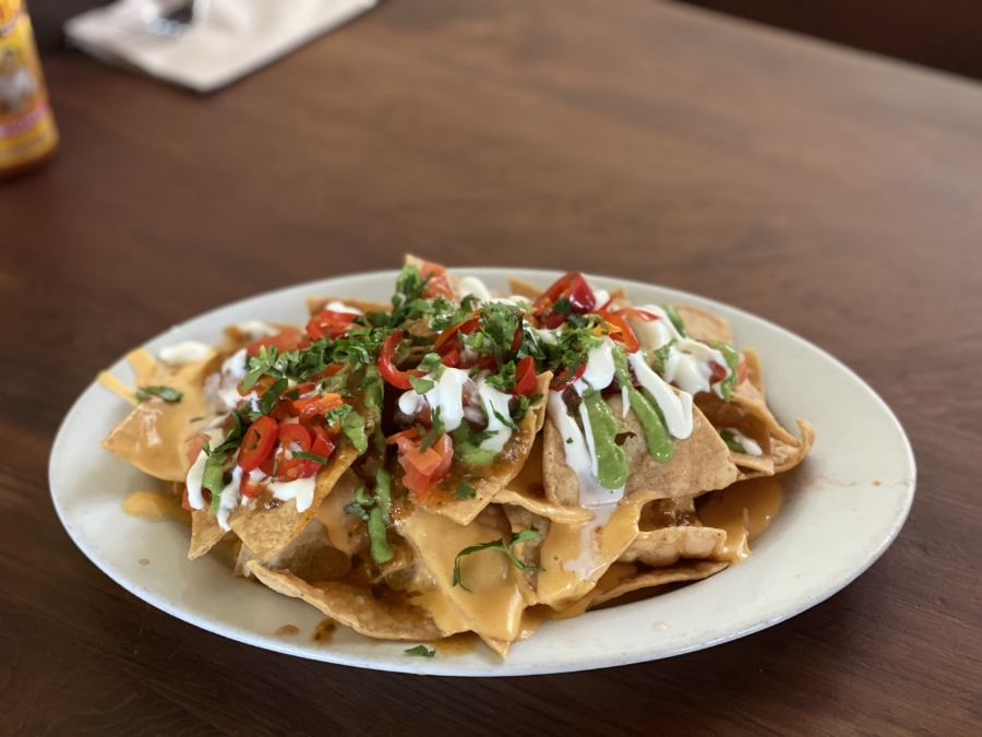 A plate of nachos at Doña on Piedmont Avenue.