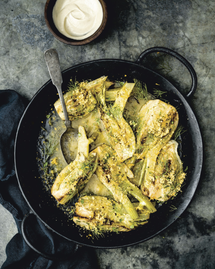 Citrus and garlic-herb braised fennel from Vegetable Kingdom by Bryant Terry