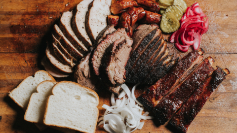 A platter of Texas-style meats from Oakland's Horn Barbecue.