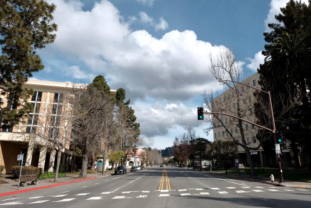 Traffic was sparse in the streets of Berkeley on March 17. Photo: Pete Rosos