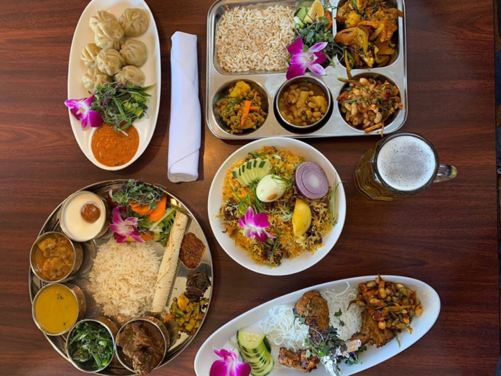 A selection of dishes from Himalayan Flavors in Berkeley.