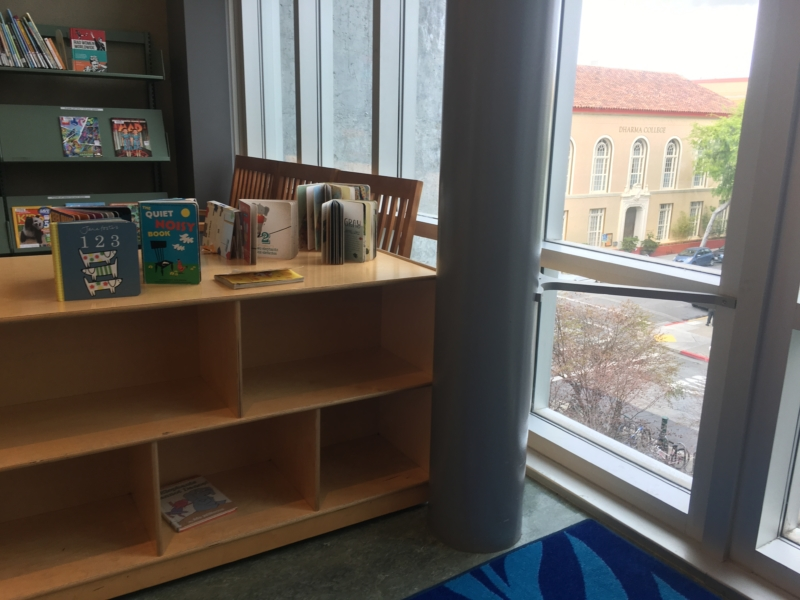 empty shelves in library