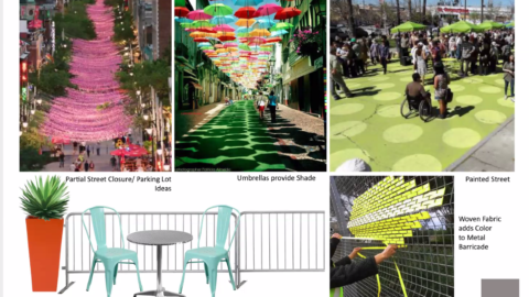 Design elements for open-air dining in Berkeley. Image courtesy of Studio KDA