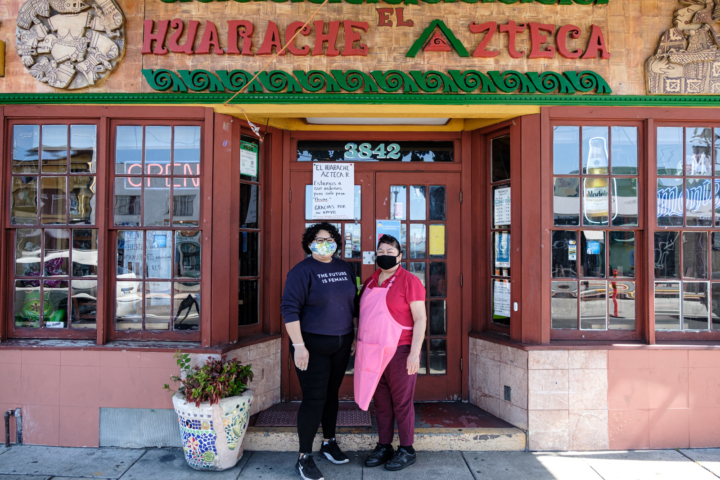 Mayra Chavez and her mother Eva Saavedra co-run El Huarache Azteca, a restaurant in Fruitvale that serves Mexico City-style food. Credit: Pete Rosos