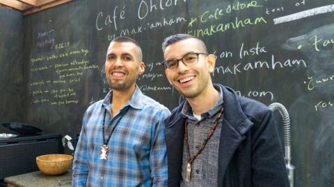 Café Ohlone co-founders Vincent Medina and Louis Trevino.