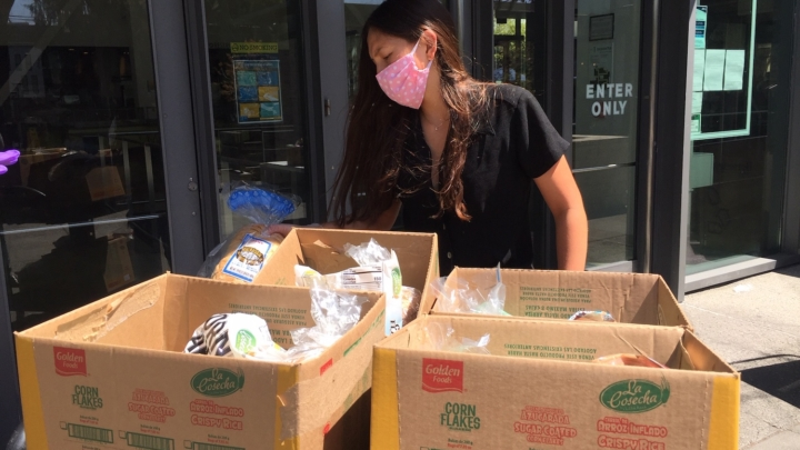 The UC Berkeley food pantry distributes free groceries to UC Berkeley students and staff on Tuesdays.