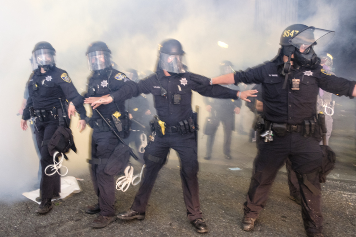 OPD Blocks Protesters