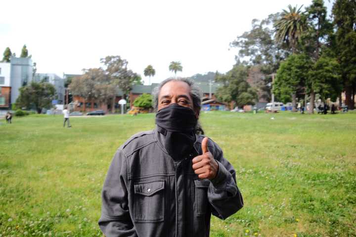 Erick Morales lives out of his car, but considers himself a resident of People's Park.