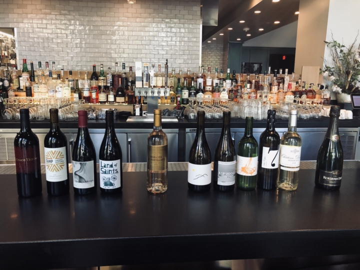 A selection of wines from Brown Sugar Kitchen in Oakland.