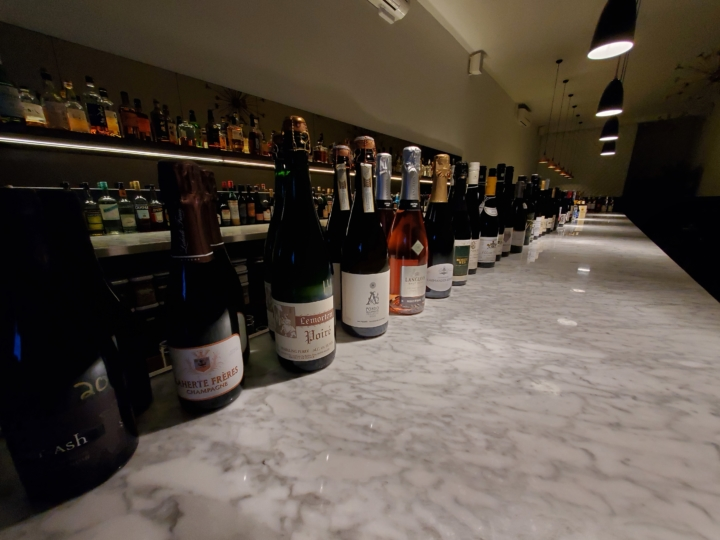 The wine selection at Commis in Oakland.