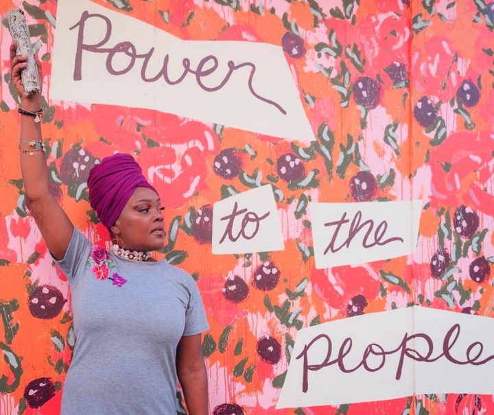 Lilli Ayers, owner of Queen Hippie Gypsy in Oakland, is one of the co-founders of An Unapologetic Juneteenth, taking place Saturday at Mosswood Park.