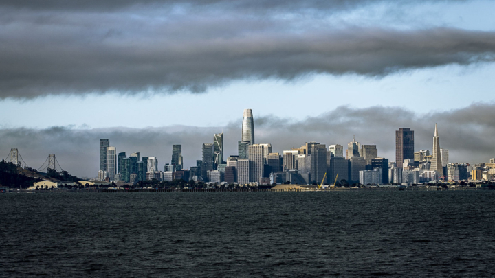 View of San Francisco skyline from the bay