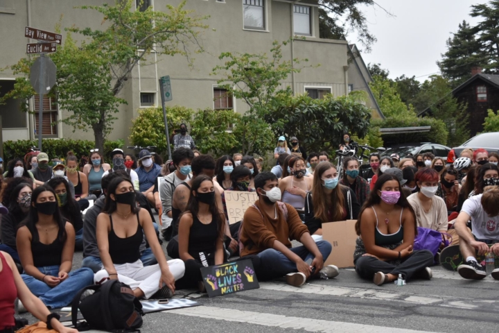Berkeley High organized Pay Your Dues protest on June 23, 202