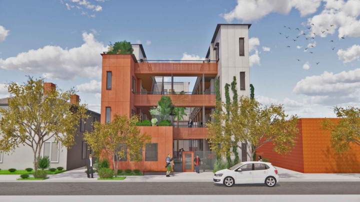 1367 University Ave. exterior view, architectural rendering