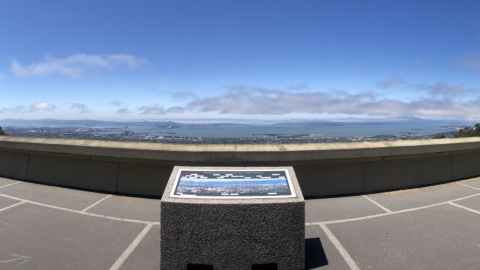 view of san Francisco bay from atop a Berkeley hill