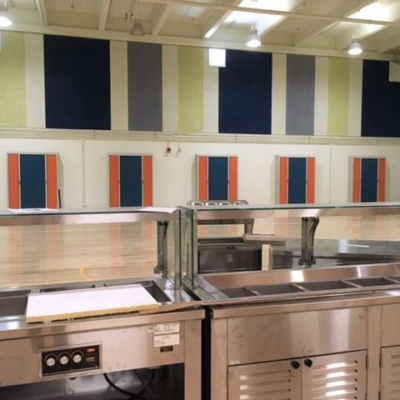 cafeteria equipment at Oxford Elementary