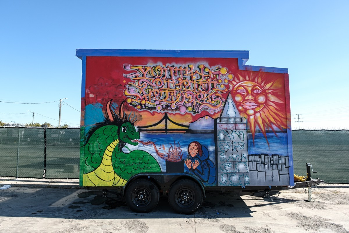 Berkeley nonprofit puts finishing touches to colorful 'tiny house village' for youth in Oakland