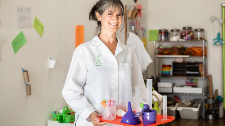 Tracy Hollander in the HandsOn STEAM Lab. Photo: Kelly Sullivan