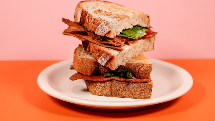 A BLT sandwich made with Prime Roots koji-based bacon. Photo: Prime Roots