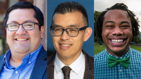 Mayoral candidates (from left to right in ballot order): Jesse Arreguin, Wayne Hsiung and Aidan Hill