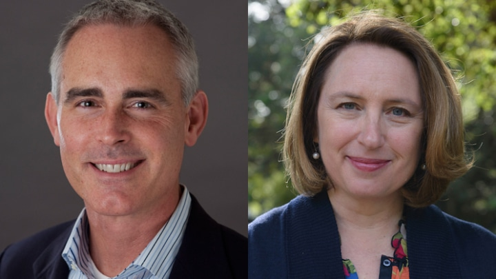 Berkeley City Council District 5 candidates Todd Andrew and Sophie Hahn