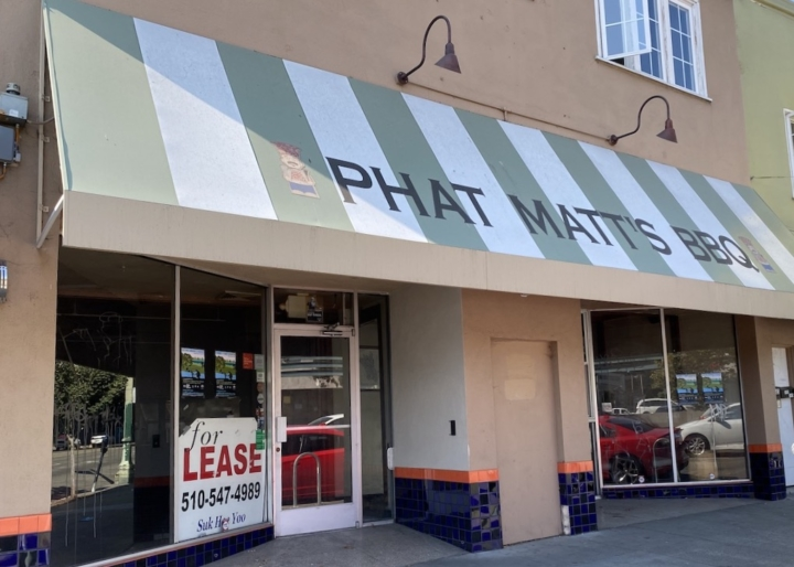 Phat Matt's BBQ has closed its storefront, but is still offering catering for groups of 10 or more. Photo: Sarah Han