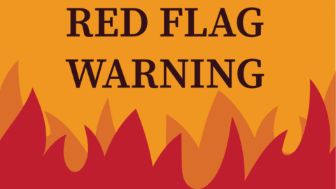 red flag warning featured graphic
