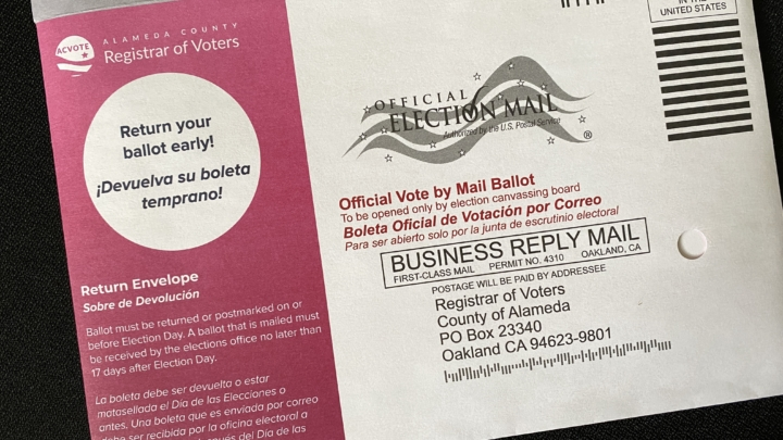 An Alameda County ballot for the 2020 election
