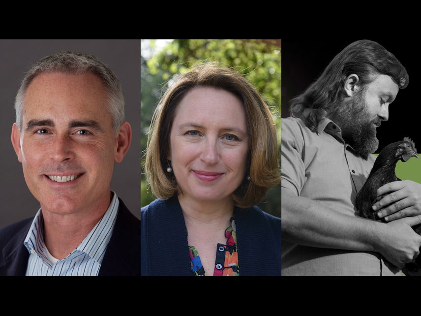 Berkeley Council District 5 candidates Todd Andrew, Sophie Hahn and Paul Darwin Picklesimer