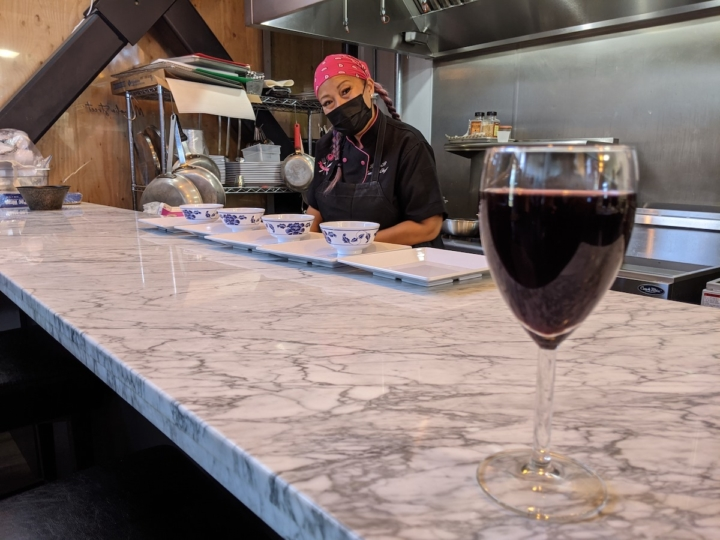 As its name suggests, wine will be a large focus at Magnolia Street, where chef Baugh hopes to introduce guests to new wines, many from vintners of color. Photo: Brandy Collins