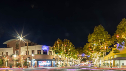 Fourth street lit up for holiday shopping