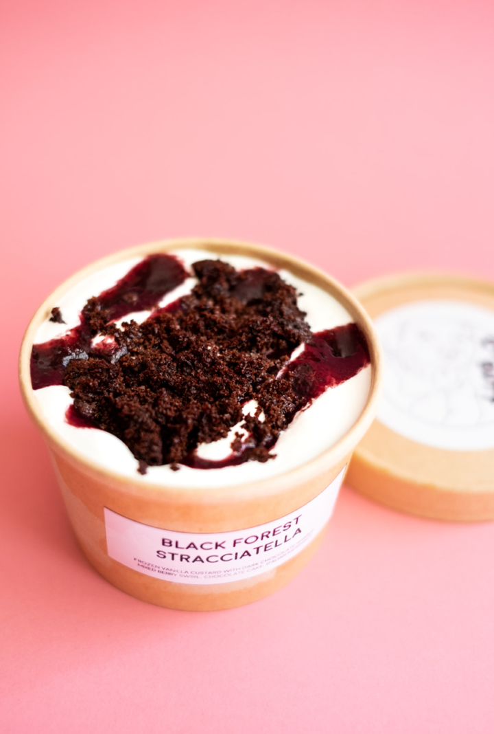 Black Forest Stracciatella from Chunky Butt Ice Cream. Photo: Jen Lo Photography
