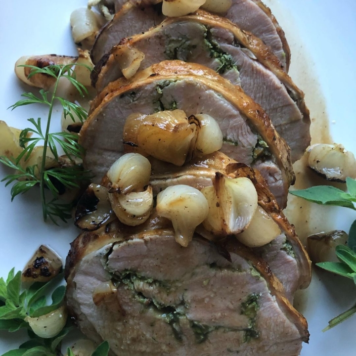 The herbed turkey breast roulade from Top Hatters Kitchen in San Leandro. Photo: Top Hatters Kitchen
