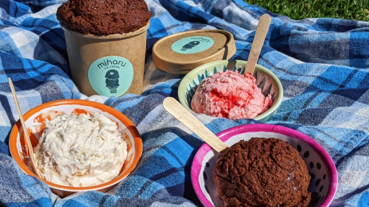 Miharu ice cream is an Oakland-based, delivery-only ice cream brand launched launched Miharu at the beginning of October. Photo: Miharu Ice Cream