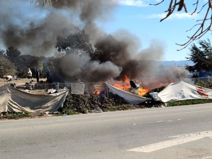 A fire at the Seabreeze homeless encampment