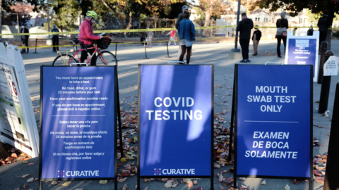 Covid testing signs