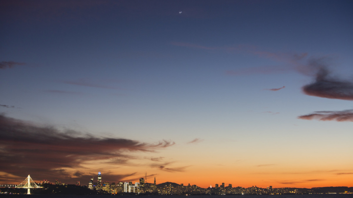 Great conjunction over San Francisco.