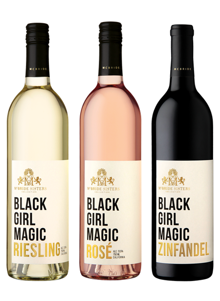 Three bottles on wine from McBride Sisters Collection