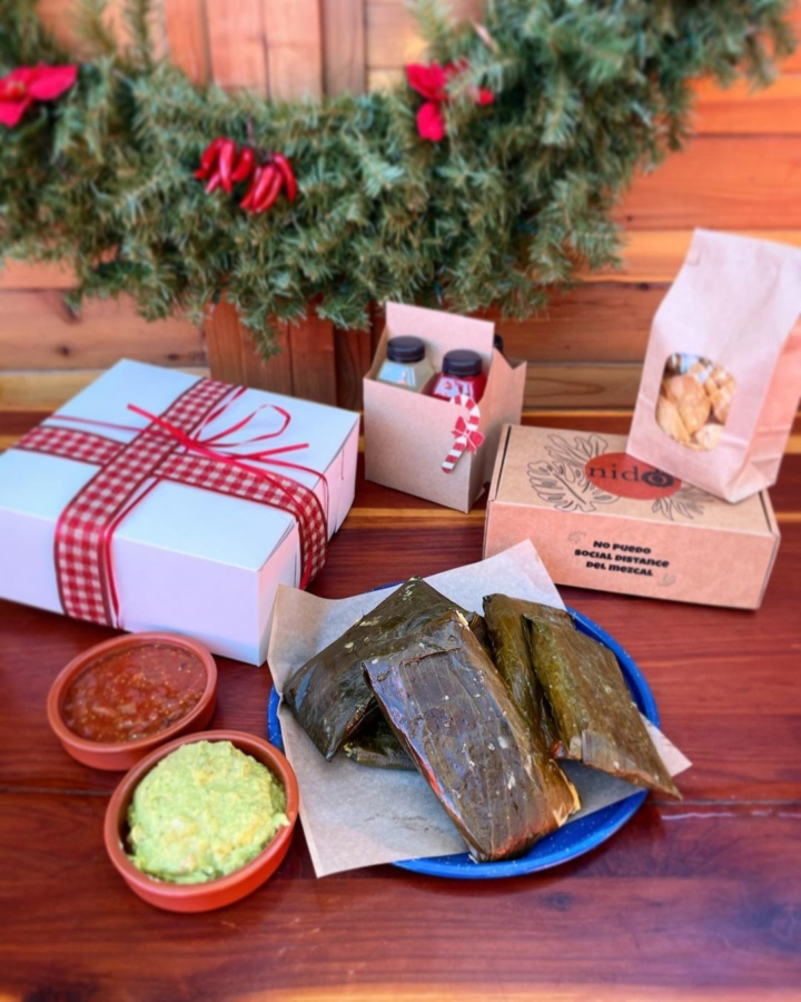 Nido's Backyard offers tamales, mezcal flights and more holiday treats. Photo: Nido's Backyard