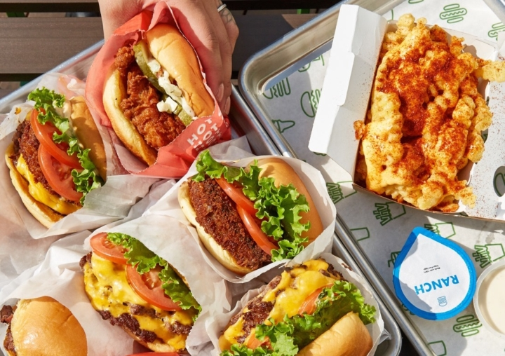 Burgers and spicy cheese fries from Shake Shack. Photo Shake Shack