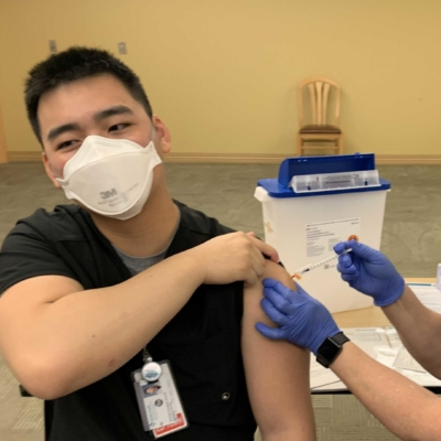 Tech gets a COVID-19 vaccination