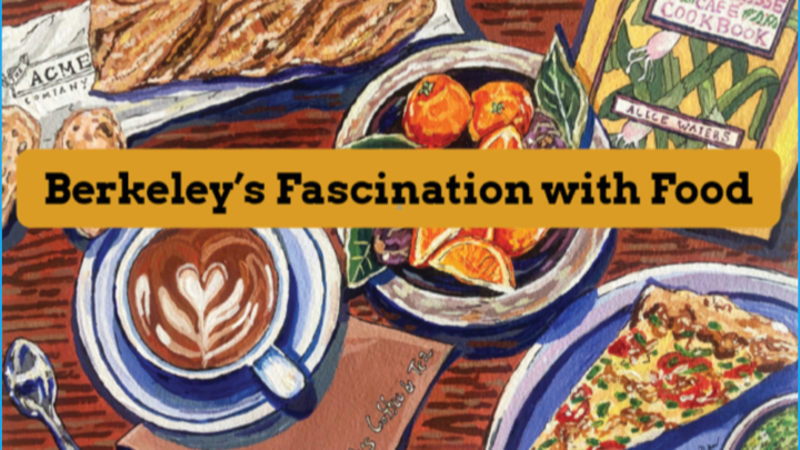 painting of food and reference to Berkeley
