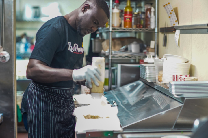 Oumar Diouf, owner of The Damel in Oakland. Photo courtesy of KQED